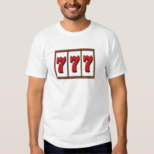 Camiseta de la ranura del triple 777 playera