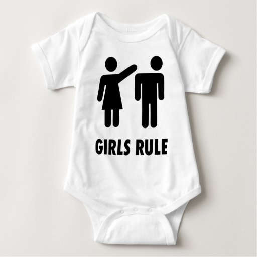 camiseta de la regla de los chicas playeras