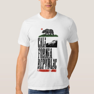Camiseta de la REPÚBLICA de CALIFORNIA Poleras