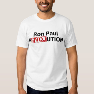 Camiseta de la REVOLUCIÓN de RON PAUL Playera
