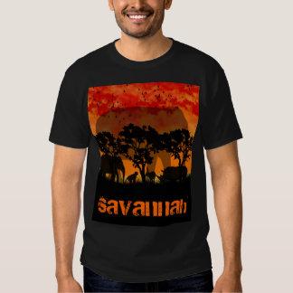 camiseta de la sabana para el tema del africano de playera