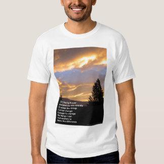Camiseta de la salida del sol del rezo de la seren playeras