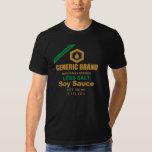 Camiseta de la salsa de soja polera
