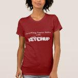 Camiseta de la salsa de tomate