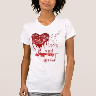 camiseta de la sangre del goteo del corazón poleras
