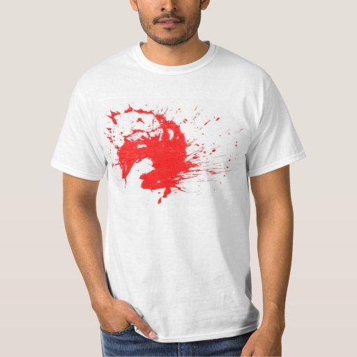 Camiseta de la sangre-salpicadura de Halloween