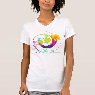 Camiseta de la señora del arco iris