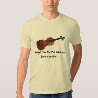 Camiseta de la sesión de atasco del violín camisas