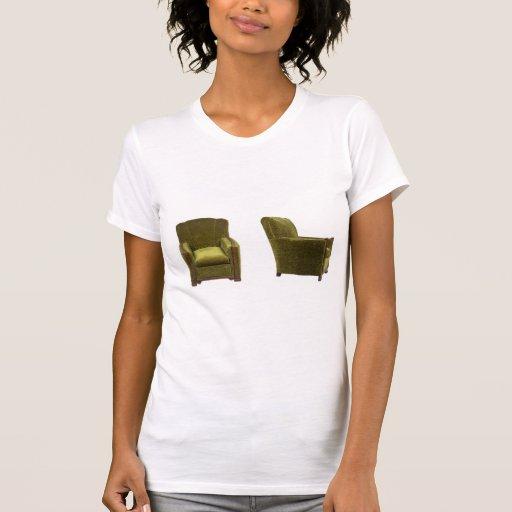 Camiseta de la silla del vintage poleras