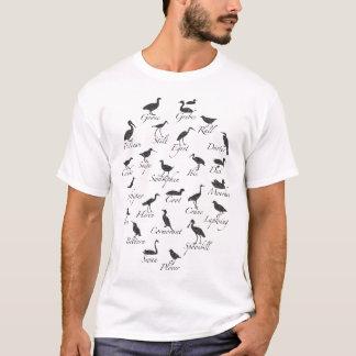 Camiseta de la silueta del ave marina
