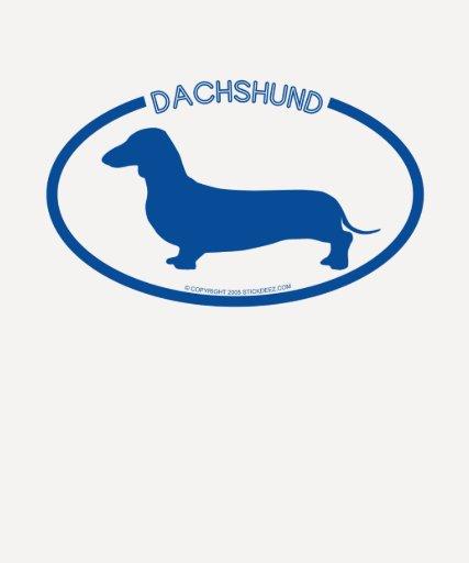 Camiseta de la silueta del Dachshund Playeras