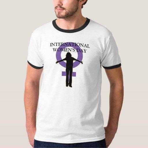 Camiseta de la silueta del día de las mujeres