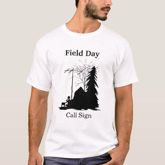Camiseta de la silueta del día de maniobras del