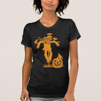 Camiseta de la silueta del espantapájaros de Hallo