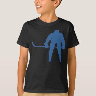 Camiseta de la silueta del hockey
