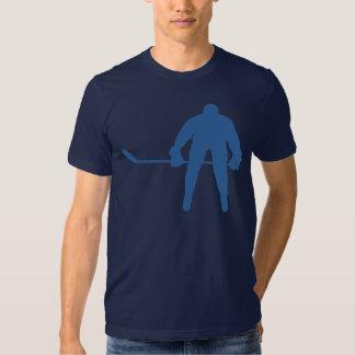 Camiseta de la silueta del hockey poleras