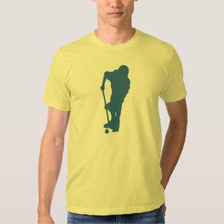 Camiseta de la silueta del jugador de hockey poleras