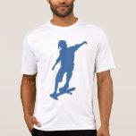 Camiseta de la silueta del skater