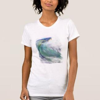 Camiseta de la sirena que practica surf