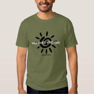 Camiseta de la sol de Massachusetts del Martha's Playeras