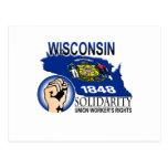 Camiseta de la solidaridad de Wisconsin Postales