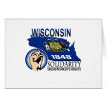 Camiseta de la solidaridad de Wisconsin Felicitación