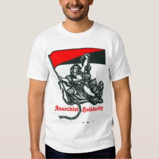 Camiseta de la solidaridad del anarquista polera