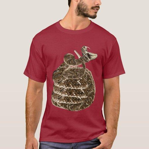 Camiseta de la sonrisa de la serpiente de cascabel