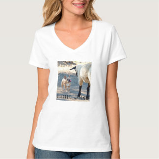 Camiseta de la tajada de cordero playera