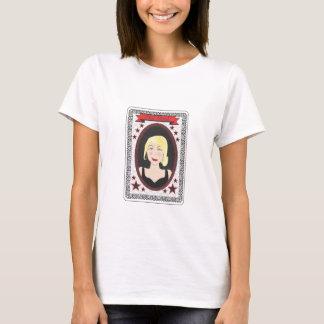 Camiseta de la tarjeta de la vieja criada