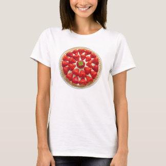 Camiseta de la tarta de la fresa