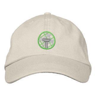 Camiseta de la tela escocesa gorra de beisbol bordada