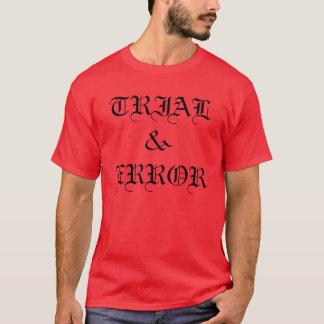 camiseta de la tierra de la cuadrilla del ensayo y