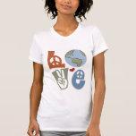 Camiseta de la tierra del amor