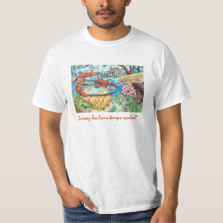 Camiseta de la tina caliente de los cangrejos playeras