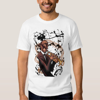 Camiseta de la tinta del jazz poleras