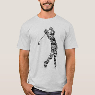 Camiseta de la tipografía del golf del golfista