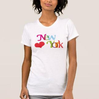 Camiseta de la tipografía del souvernir de Nueva Y