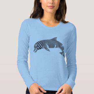 Camiseta de la tira de la cebra del delfín remera