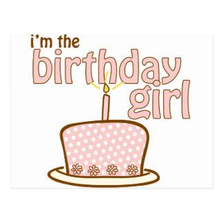 Camiseta de la torta del chica del cumpleaños postal