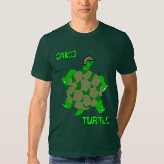 Camiseta de la tortuga de Camo Remeras