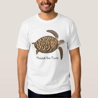 Camiseta de la tortuga de mar de Hawksbill Poleras