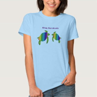Camiseta de la tortuga del arco iris playeras