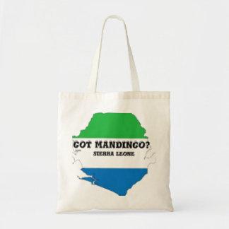 Camiseta de la tribu del mandingo (África) y etc Bolsa Tela Barata
