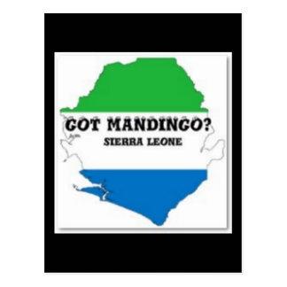 Camiseta de la tribu del mandingo (África) y etc Tarjeta Postal