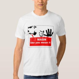Camiseta de la trituradora del botón poleras