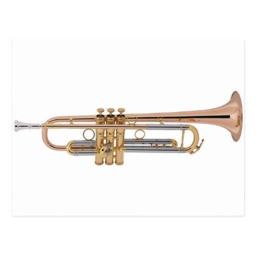 Camiseta de la trompeta postal