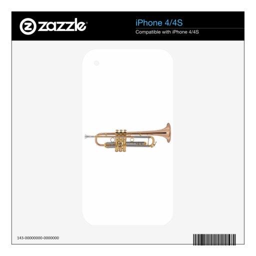 Camiseta de la trompeta calcomanías para el iPhone 4