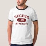 Camiseta de la universidad de la hendidura poleras