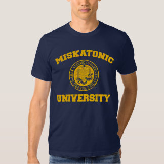 Camiseta de la universidad de Miskatonic Playera